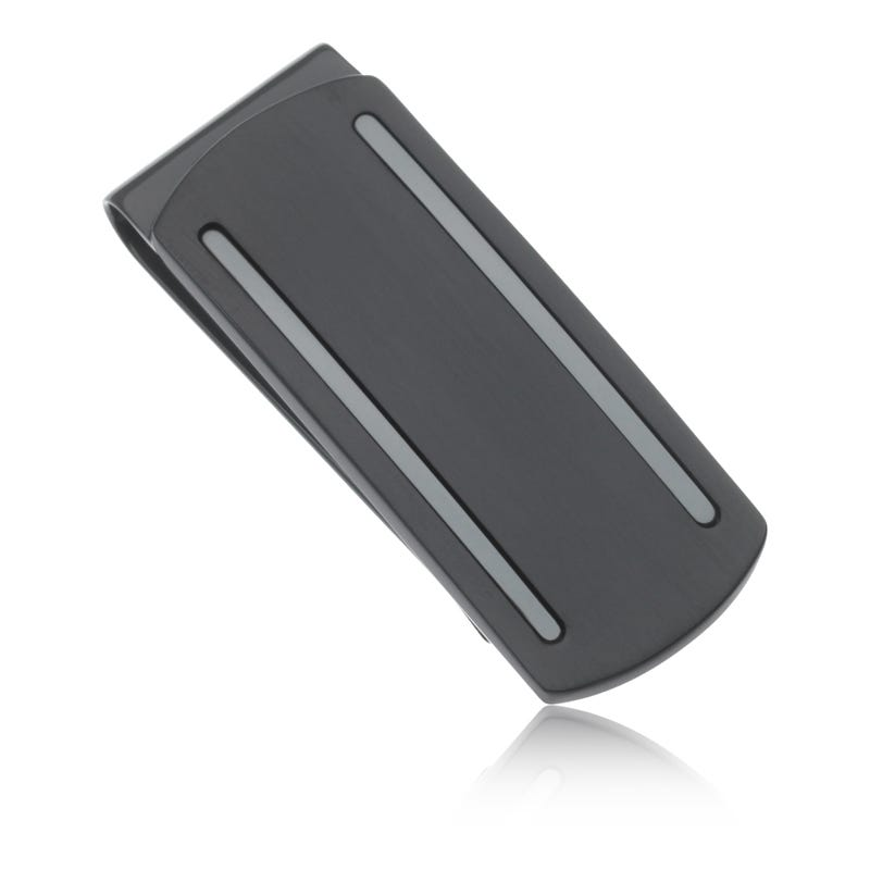 Black Stainless Steel Money Clip