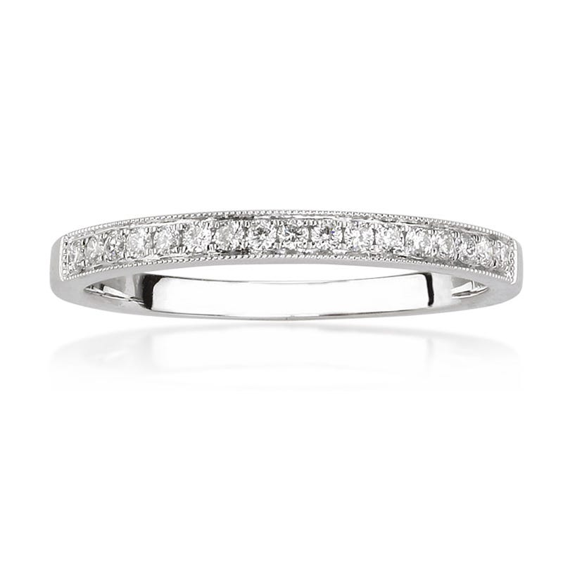Diamond Anniversary Band in 18k White Gold