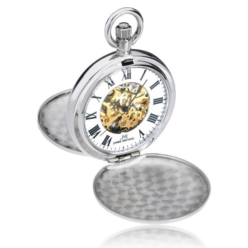 Lotus White Metal Pocket Watch