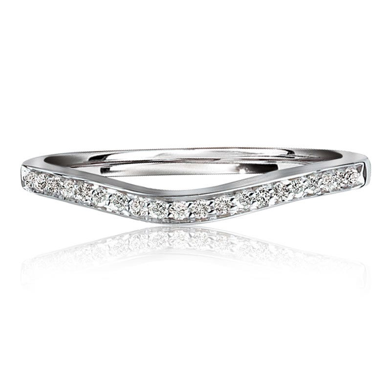 Brilliant-Cut Contour Anniversary Band 1/10ct. T.W.