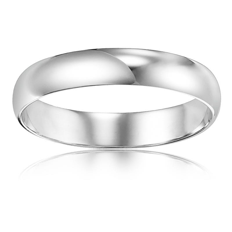 Ladies' Classic Wedding Band in 10k White Gold