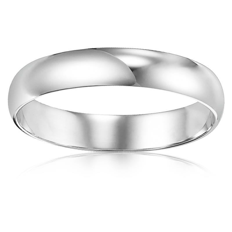 Men's 10K White Gold Wedding Band 3mm