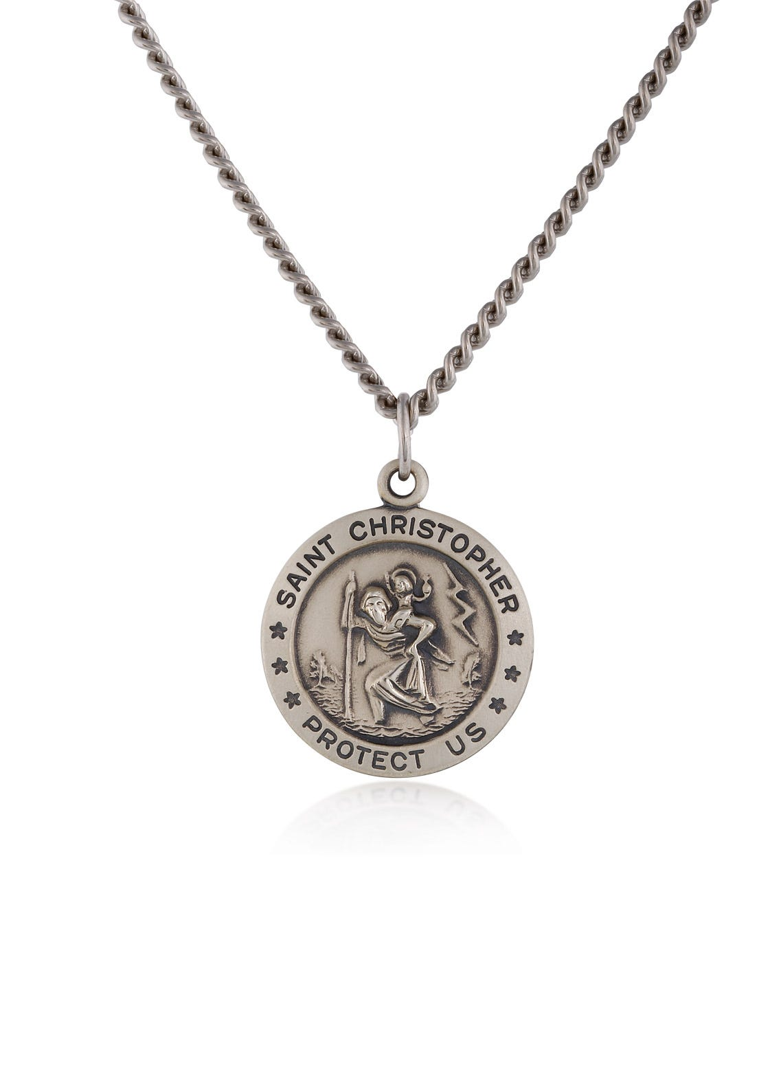 St. Christopher Antiqued Medal