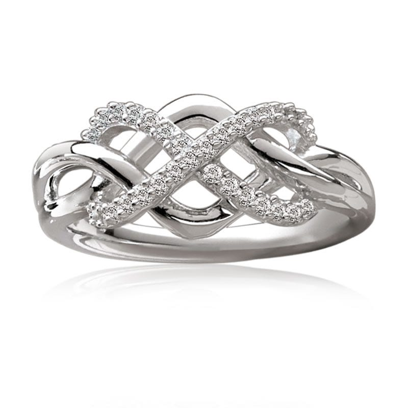 Love Knot Crisscross Diamond Ring