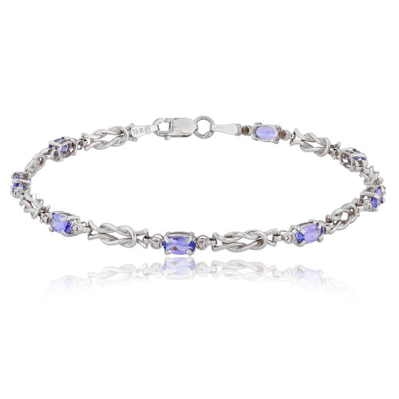 Tanzanite & Diamond Accent Love Knot Bracelet