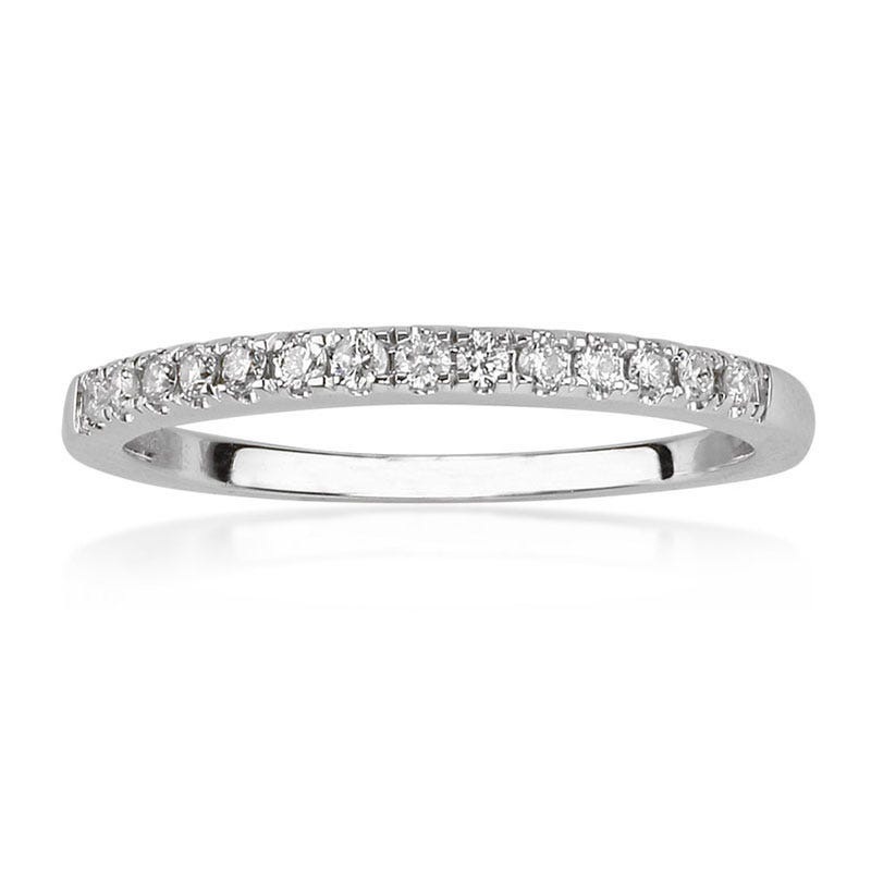 Julianna II. Matching Diamond Wedding Band 1/8ct. t.w. in 14K White Gold