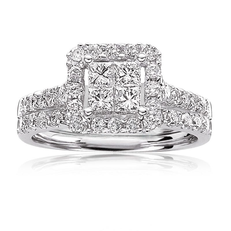Julianna. Princess-Cut 1ctw. Engagement Ring in 14k White Gold