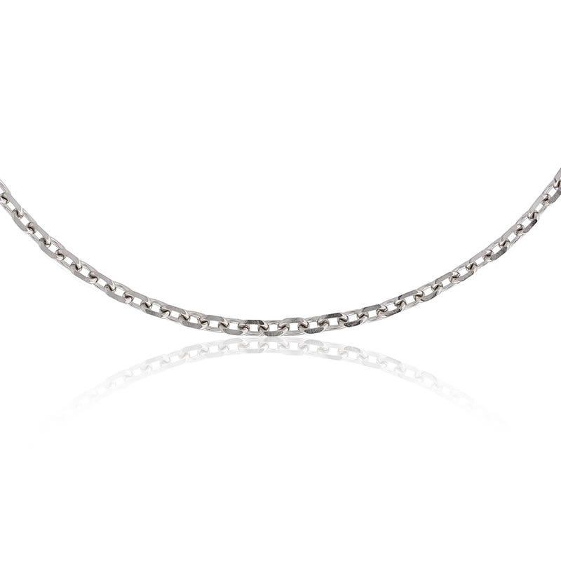 Flat Edge Rolo Pendant Chain 24