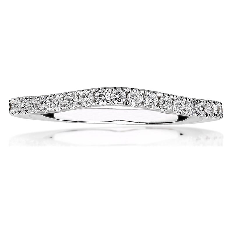 Oriana. White Gold Brilliant-Cut Diamond Wedding Band ¼ ct. T.W.