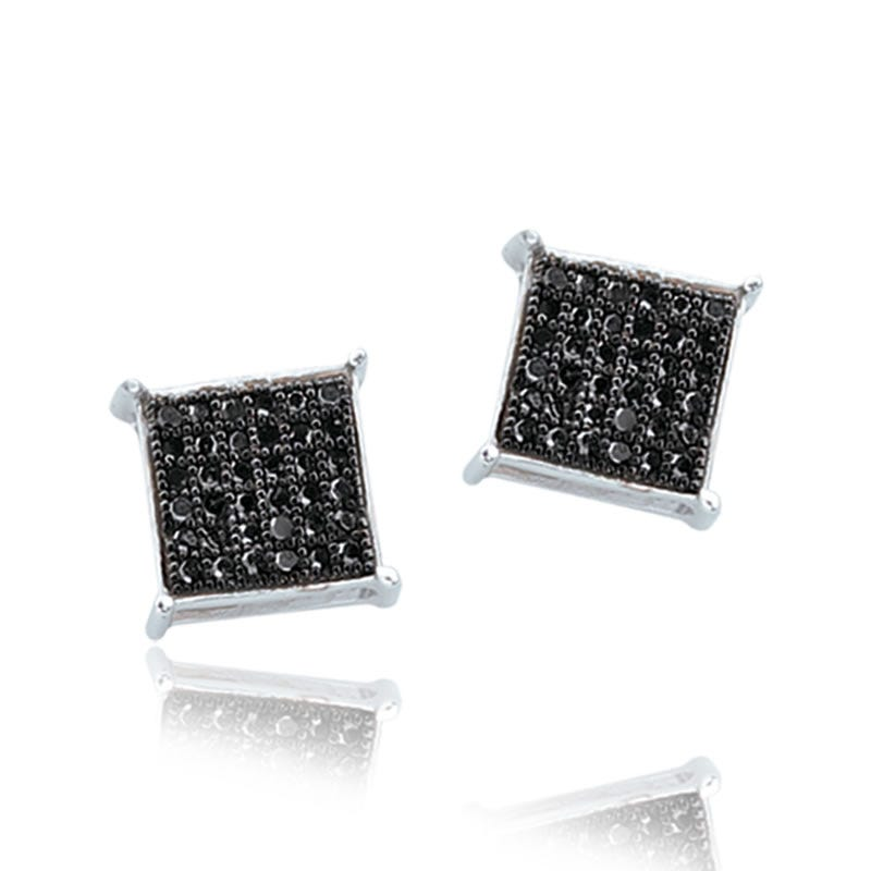 Black Diamond Earrings 1/5ct. T.W.