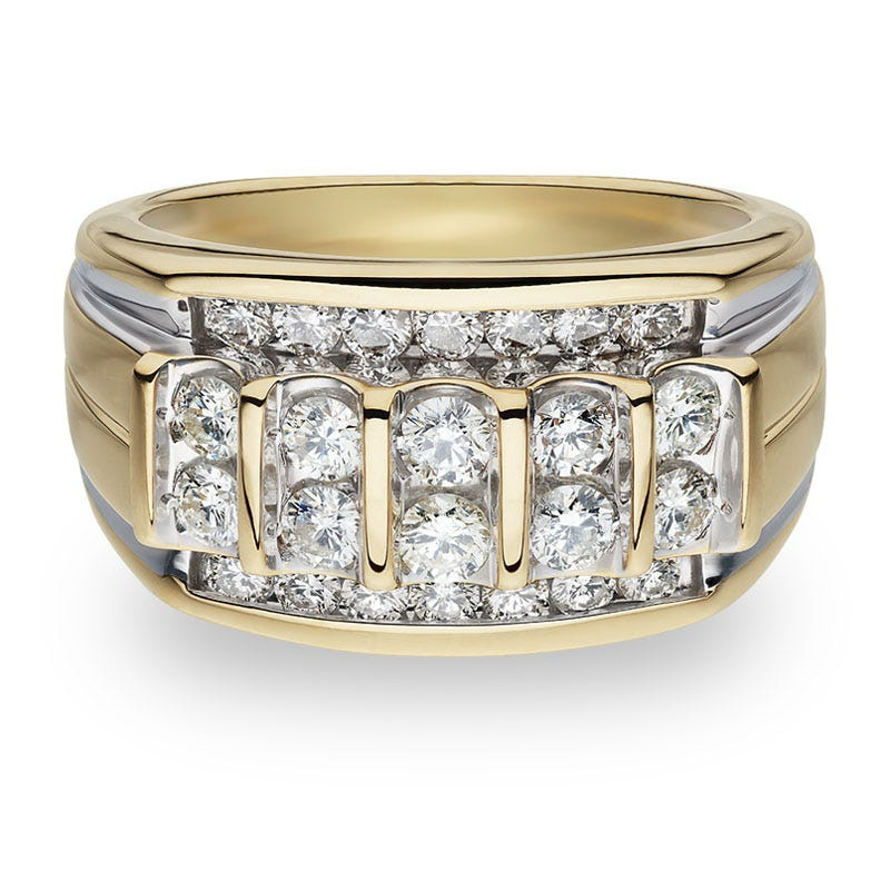 Men's 1½ctw. Round Diamond Ring in 14k Yellow Gold