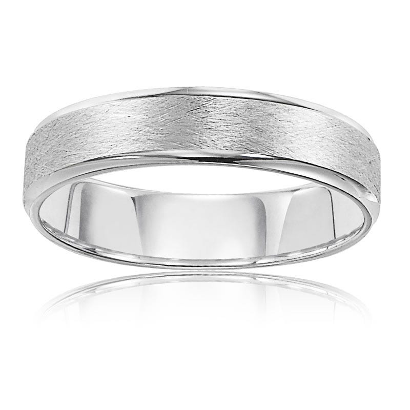 Men's 10k White Gold 6mm Wedding Band