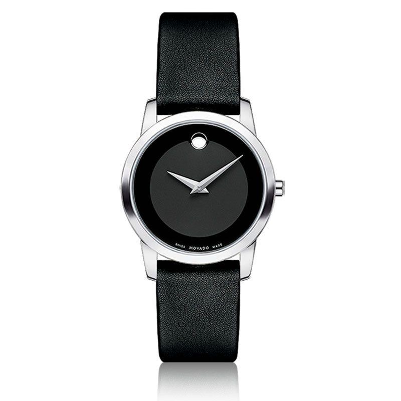 Movado Museum Classic® Ladies Watch SS Black 606503