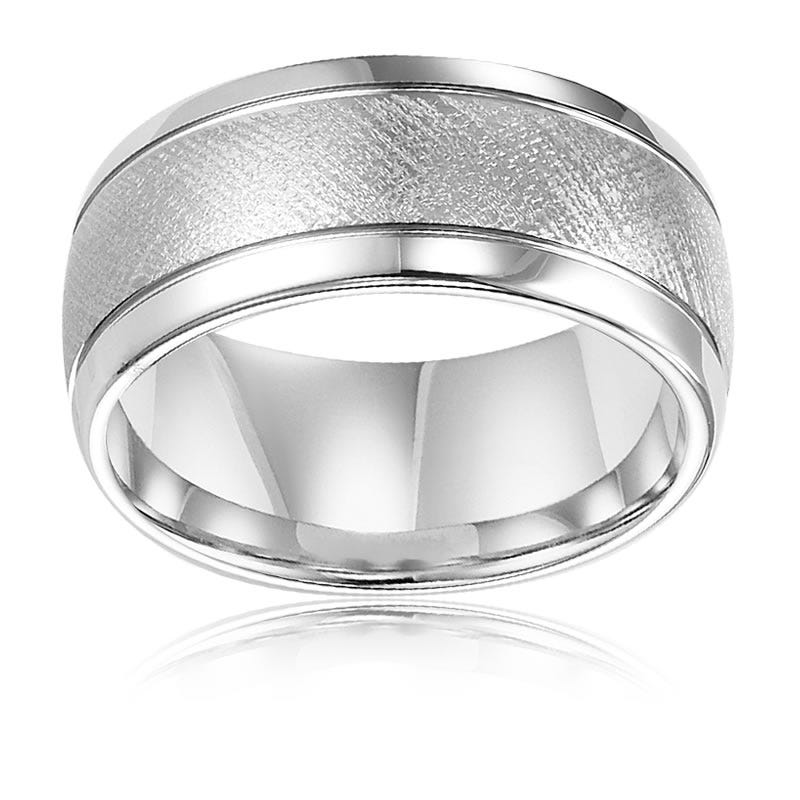 Triton Men's Tungsten Carbide Florentine Wedding Band