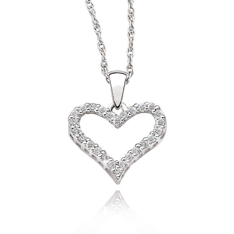 Diamond Heart Pendant 1/6ct. T.W.