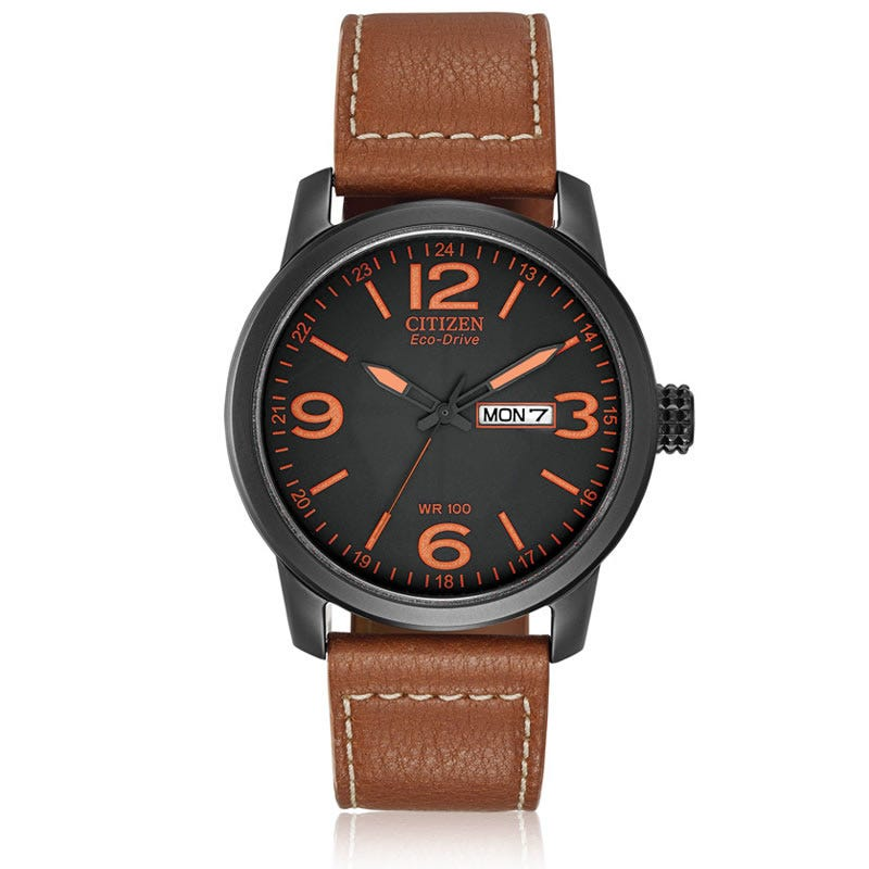 CITIZEN Eco-Drive Men's Strap  Military Inspired
