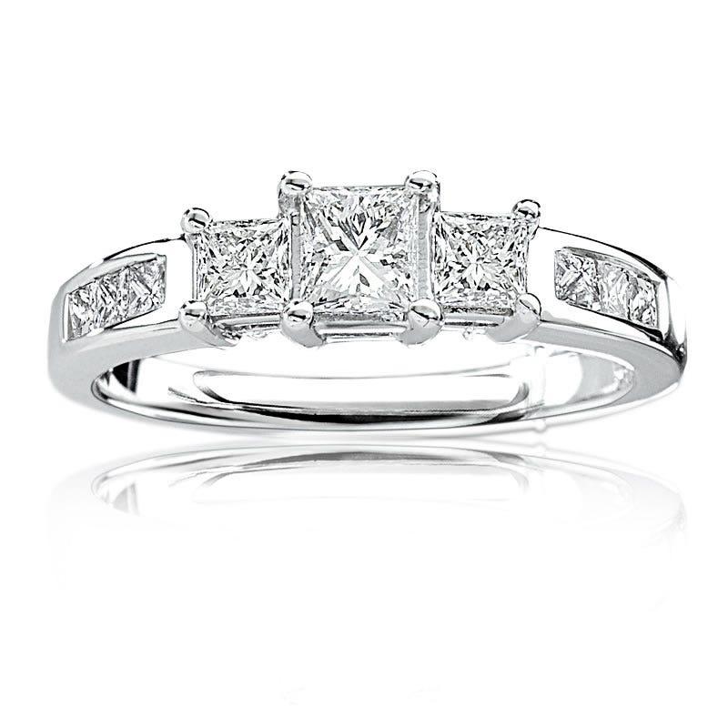 Three-Stone Princess-Cut Diamond Engagement Ring