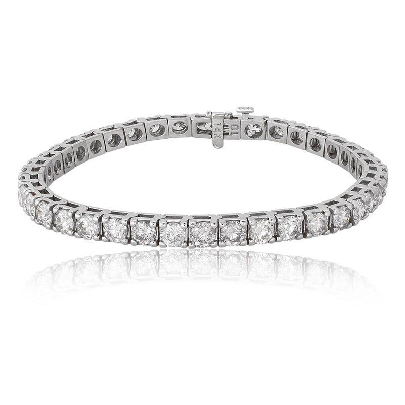 10ctw. Diamond Tennis Bracelet in 14K White Gold