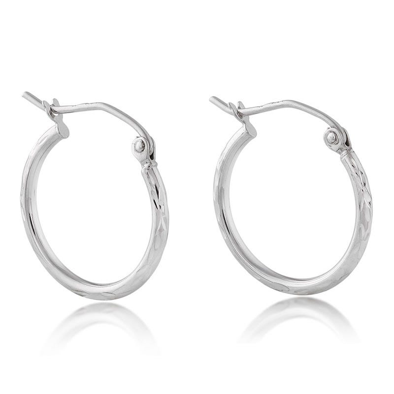 Etched Hoop Earrings