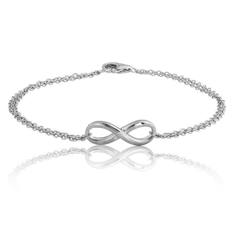 Double Strand Infinity Bracelet