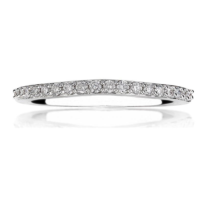 Roxi. Diamond Wedding Band in 14k White Gold