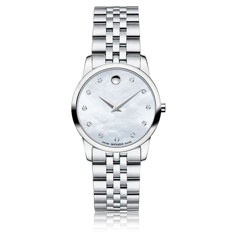 Movado Museum Classic® Ladies Watch SS White 606612