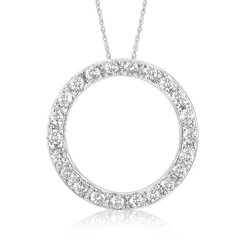 Circle Diamond Pendant 1/10ct. T.W.