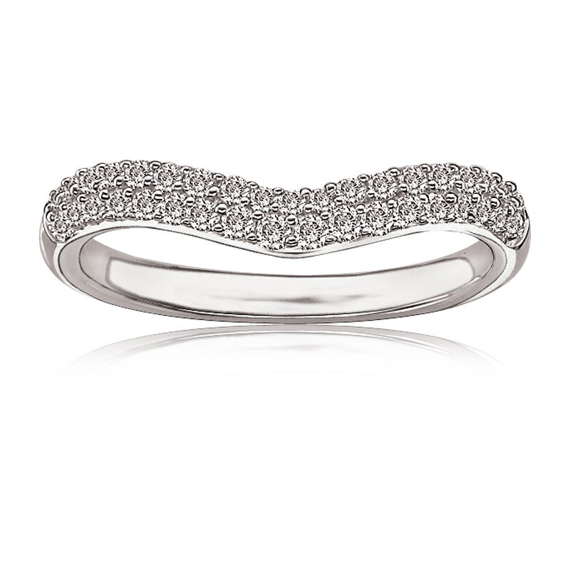 Brilliant-Cut Contour Diamond Anniversary Band 1/3ct. T.W.