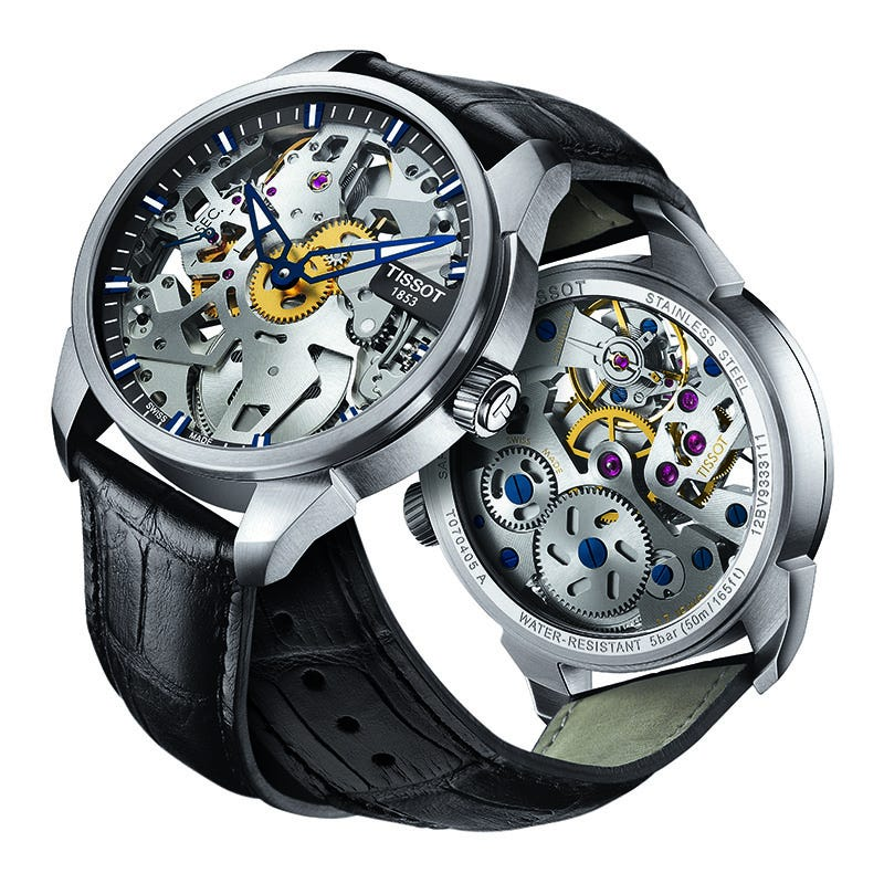 Tissot Men's T-Complication Squelette Mechanical Watch T0704051641100