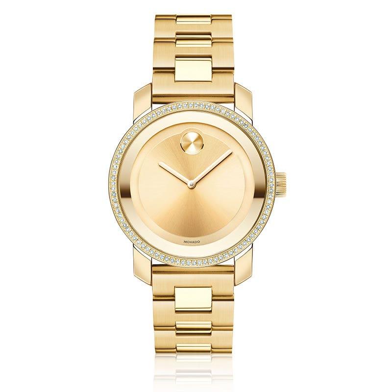 Mid-Size Movado BOLD Watch  90 Diamond Bezal 3600150