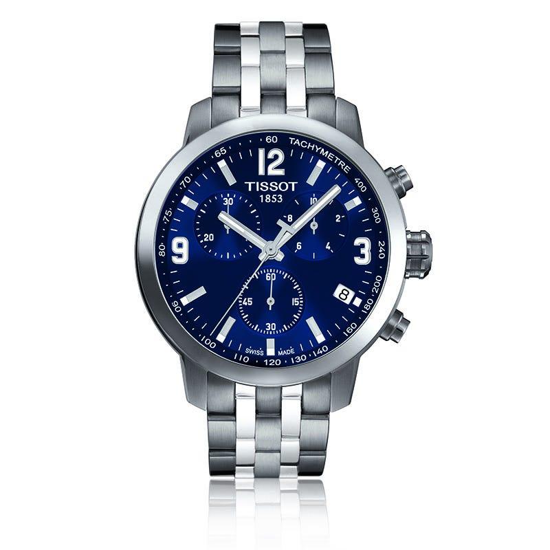 Tissot Prc 200 Men's Blue Chronograph Quartz Sport Watch T0554171104700