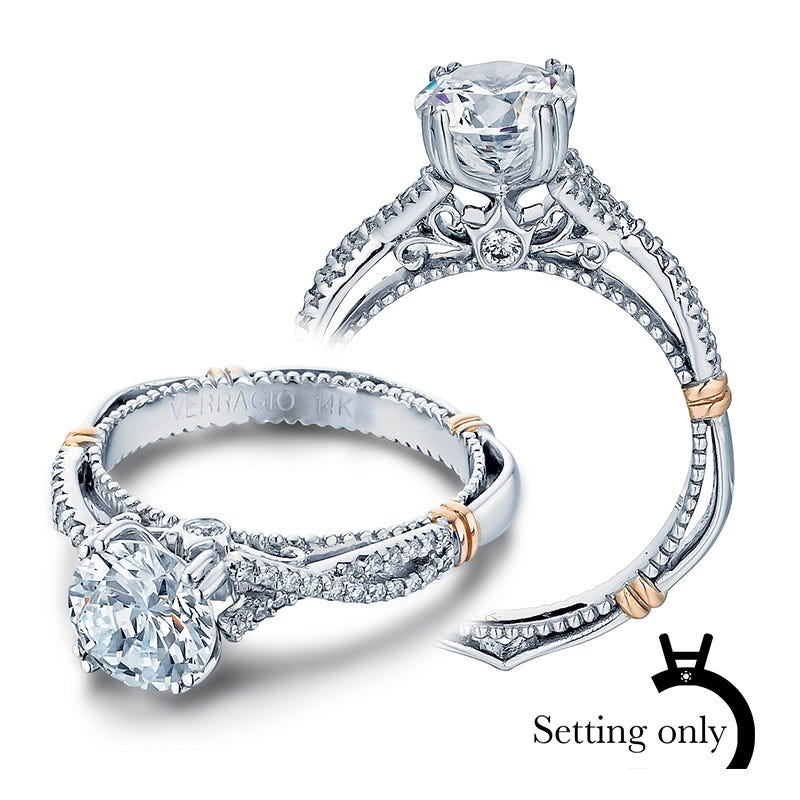 Verragio Parisian Pave Diamond Engagement Ring Setting D-105
