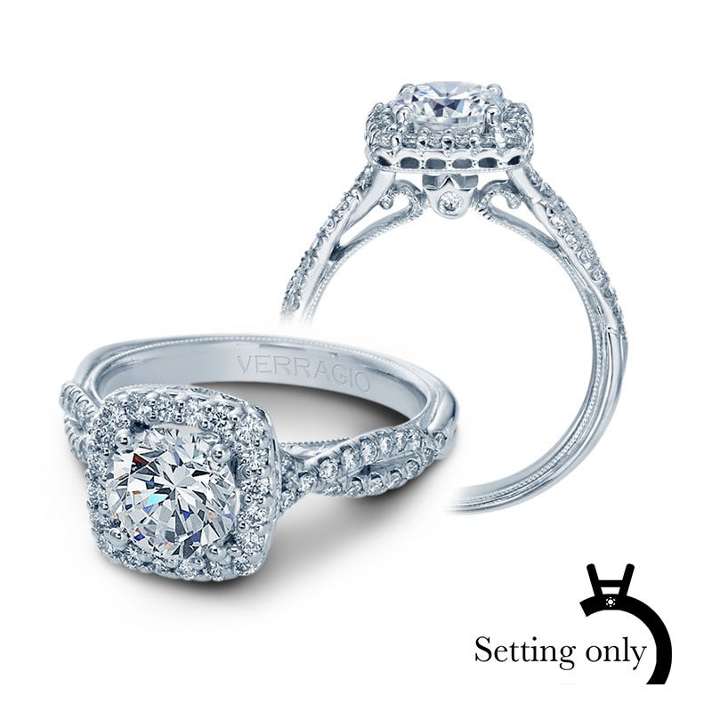 Verragio Classic Diamond Halo Engagement Ring Setting V-918-CU7