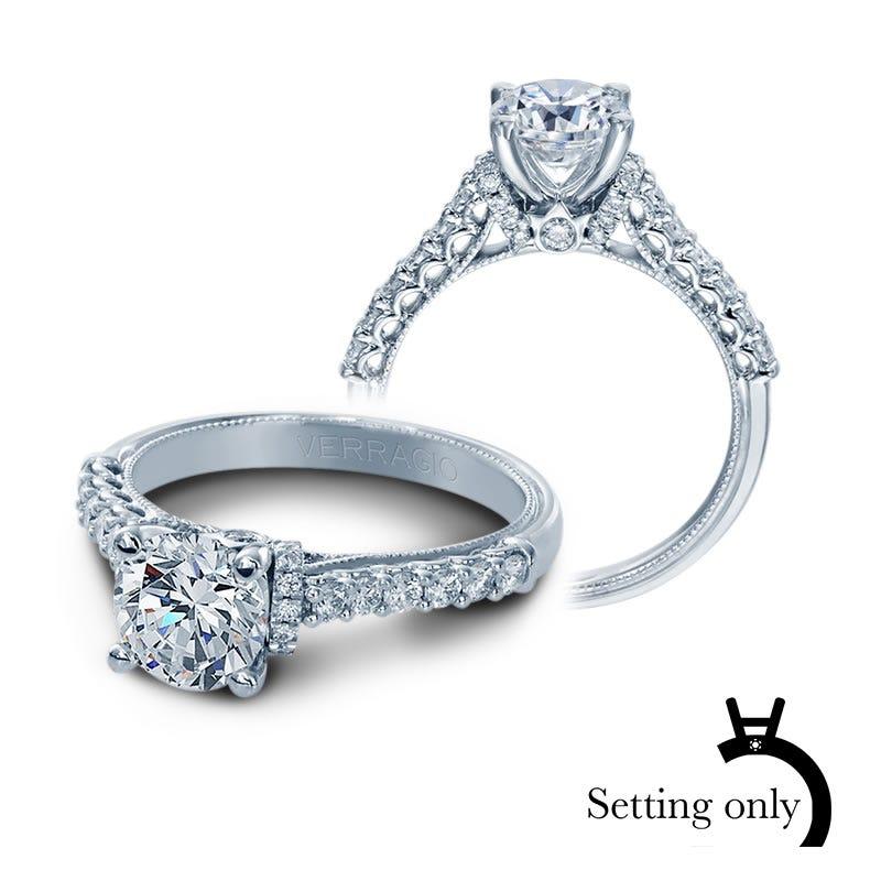 Verragio Classic Brilliant Diamond Engagement Ring Setting V-906-R7
