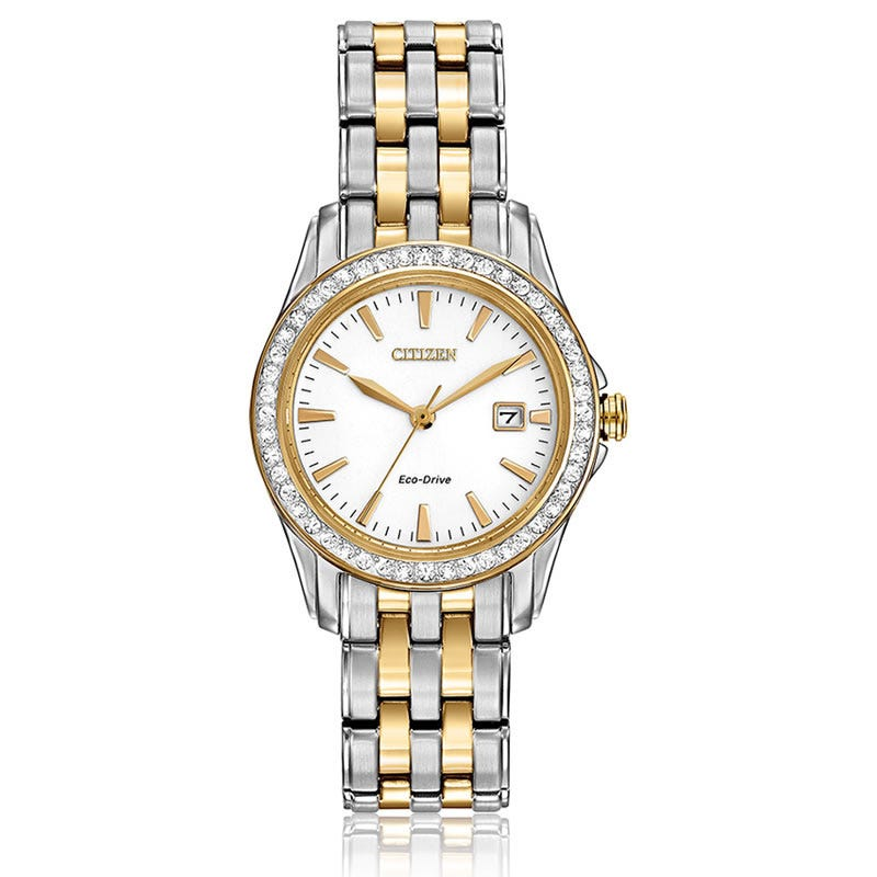 CITIZEN® Silhouette Crystal Watch SS Two Tone