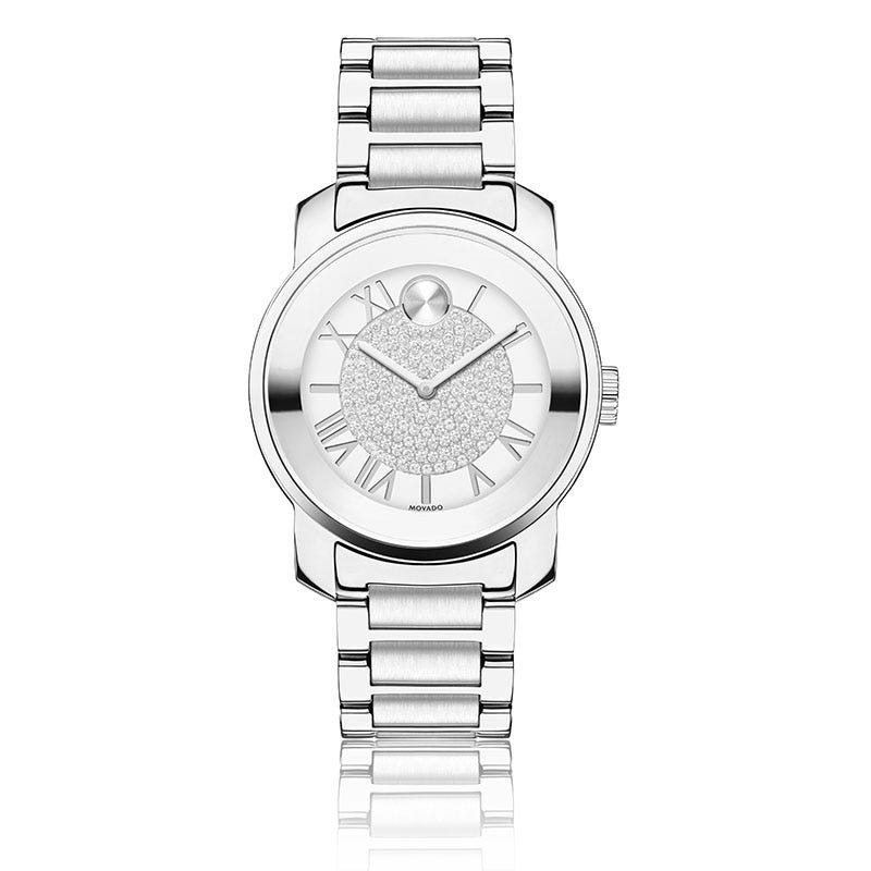 Movado Women's Swiss Bold Stainless Steel Bracelet Watch 32mm 3600254