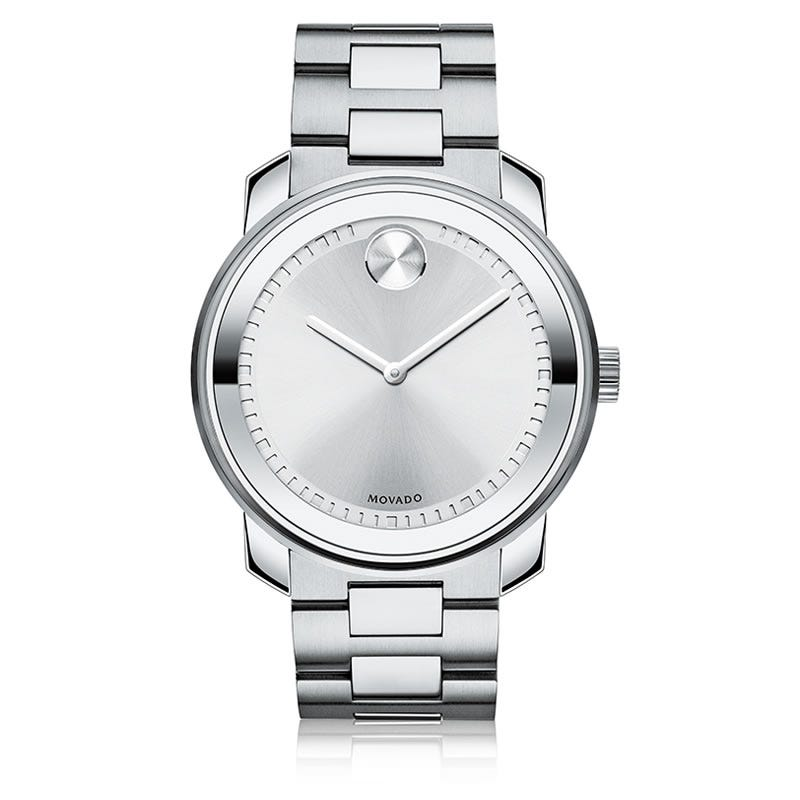 Large Movado BOLD Watch Silver Toned 3600257