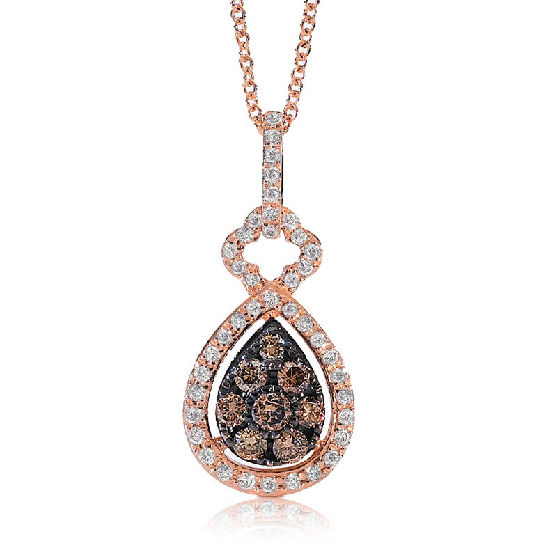EFFY Prism Espresso Diamond Pendant in 14k Rose Gold