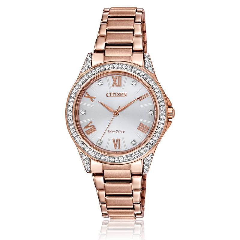 CITIZEN Drive Rose Gold Swarovski® Watch
