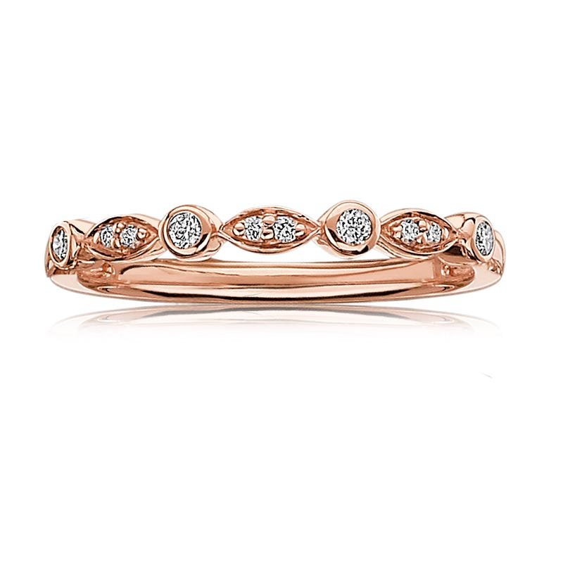 Diamond Stackable Band in 10k Rose Gold
