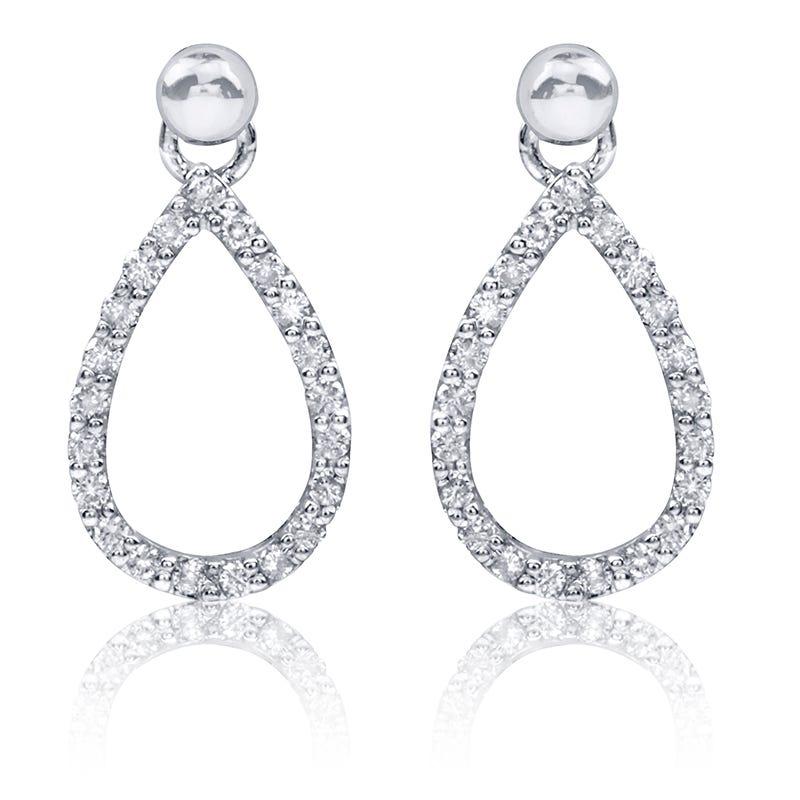 Pear-Shape Diamond Dangle Earrings