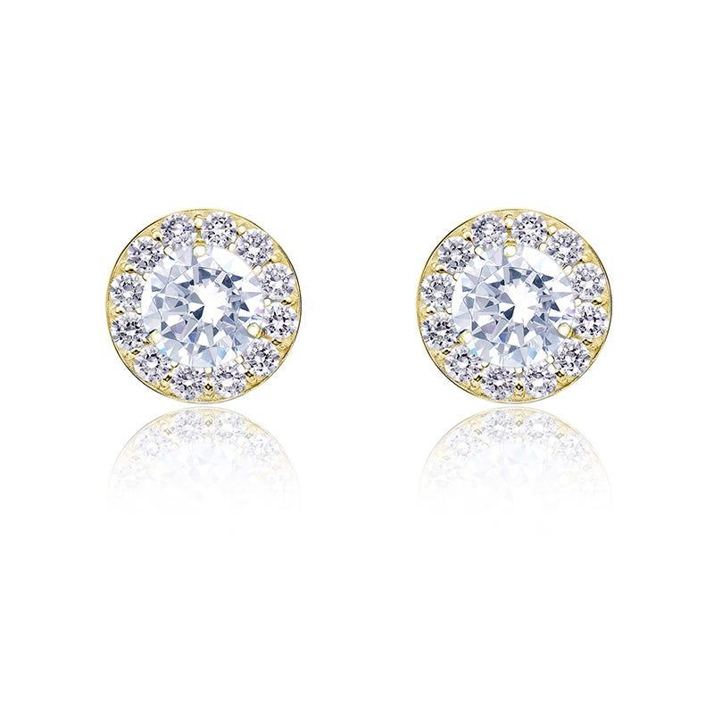 Diamond ½ct. t.w. Halo Stud Earrings in 14k Yellow Gold