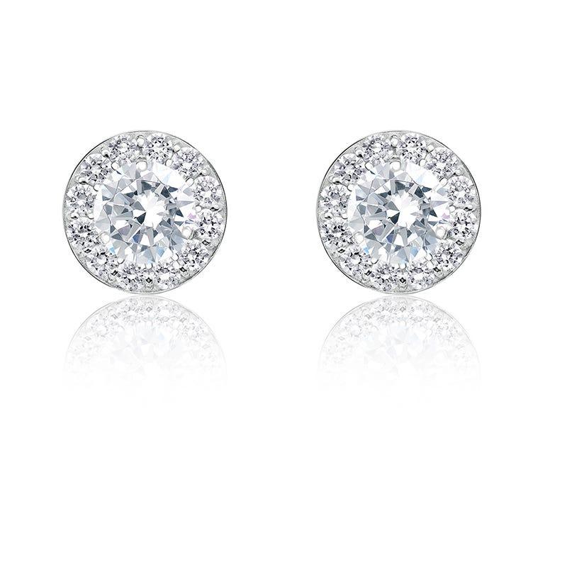 Diamond ¾ ct. t.w. Halo Stud Earrings in 14k White Gold