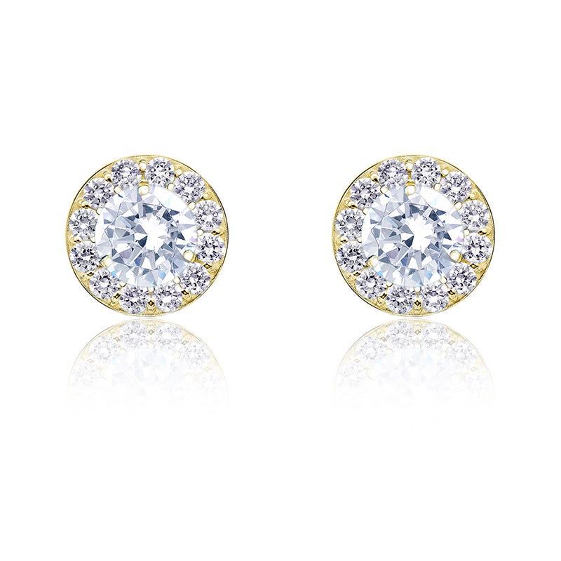 Diamond ¾ct. t.w. Halo Stud Earrings in 14k Yellow Gold
