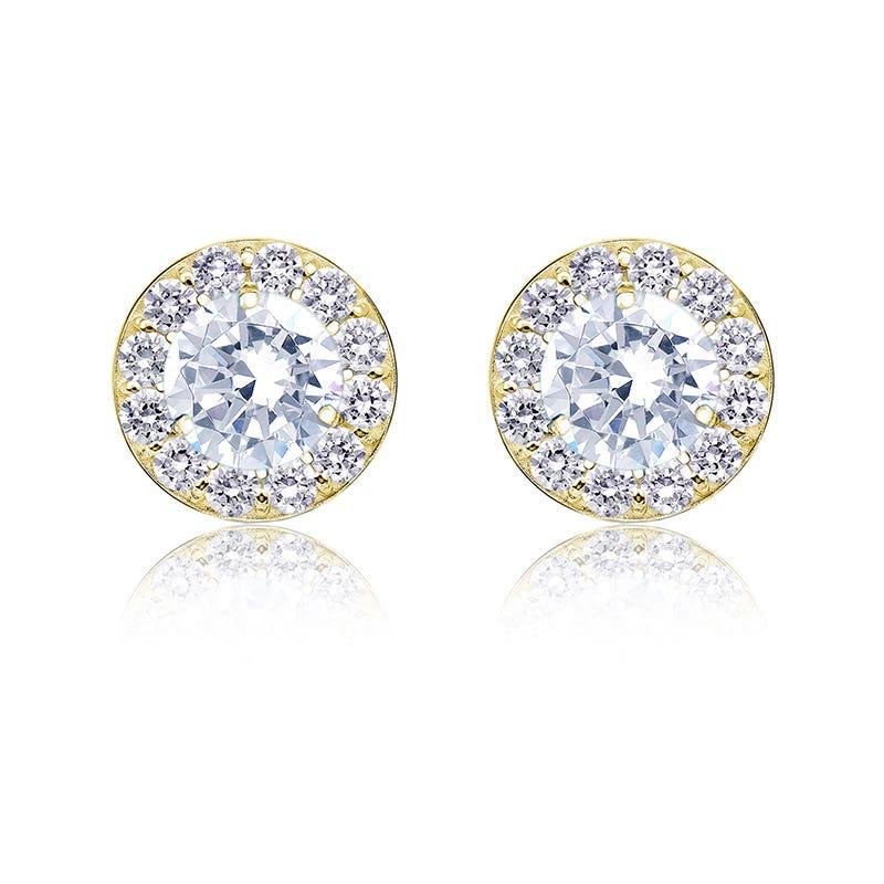 Diamond 1ct. t.w. Halo Stud Earrings in 14k Yellow Gold