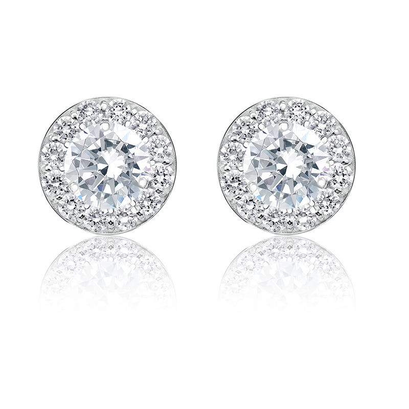 Diamond 1½ ct. t.w. Halo Stud Earrings in 14k White Gold