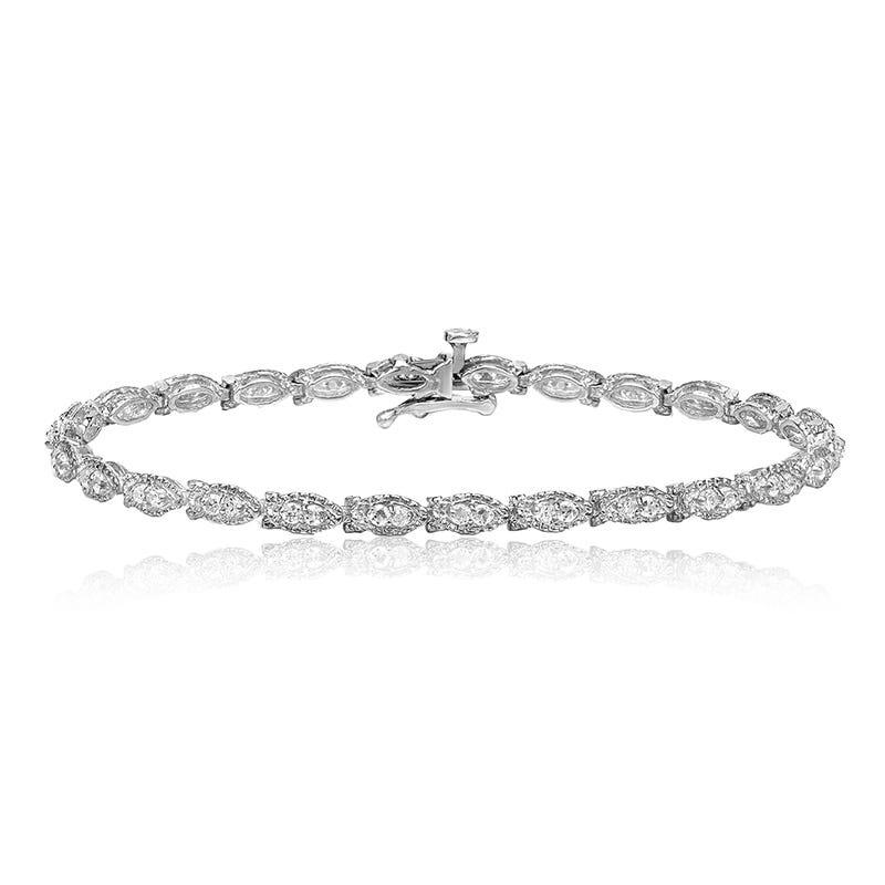 Diamond 1ct. Fashion Bracelet in 14k White Gold