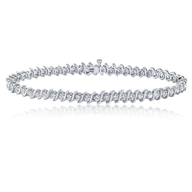 S-Link 1ct. Diamond Bracelet in 14k White Gold