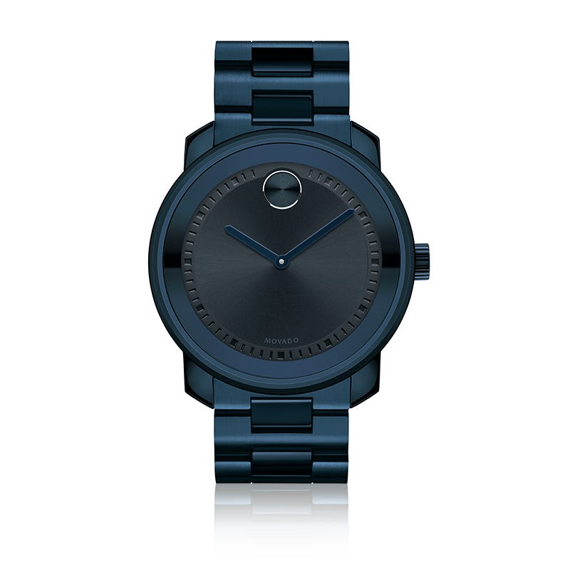 Movado BOLD Men's Ink Navy IP Watch 3600296