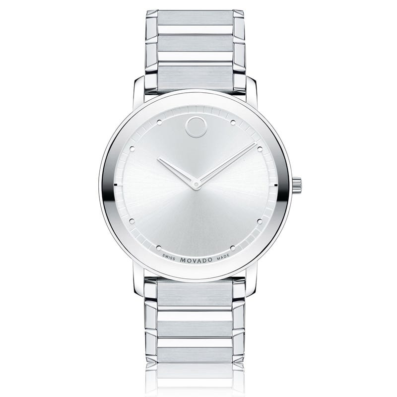 Movado Men's Sapphire Stainless Steel & Silver Mirror Watch 606881